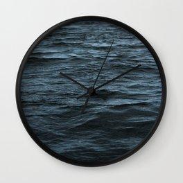 Dark Ocean Surface Wall Clock
