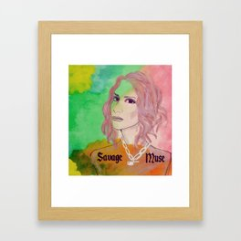 SAVAGE MUSE: LEILA Framed Art Print