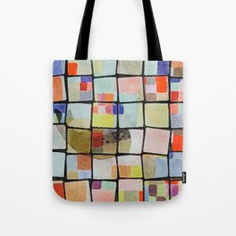 whale in reassembled color squares Tote Bag