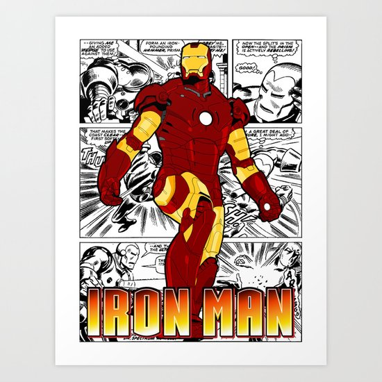 Iron Man Comic Art Print