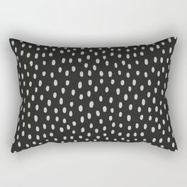 Hand painted black gray watercolor brushstrokes pattern Rectangular Pillow