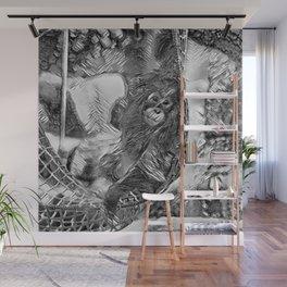 AnimalArtBW_OrangUtan_20170605_by_JAMColorsSpecial Wall Mural
