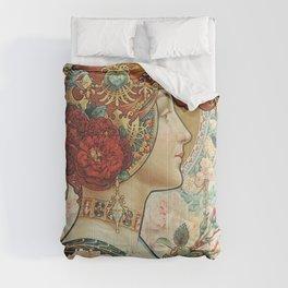 French Art Nouveau Woman Comforters