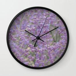 Lavender Field in Brussels Belgium Wall Clock