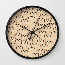 Meerkats - Suricata  Wall Clock