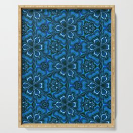 Blue Enigma Serving Tray