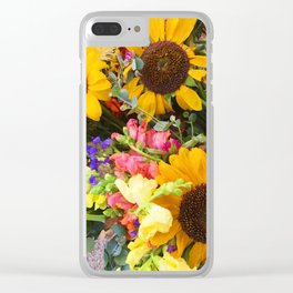 Farmers Market- Sunflowers Clear iPhone Case
