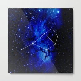 Pleiades Constellation Star Map Metal Print