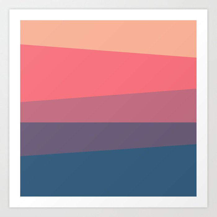 Red Blue Color Palette Art Print By Artsimo Society6