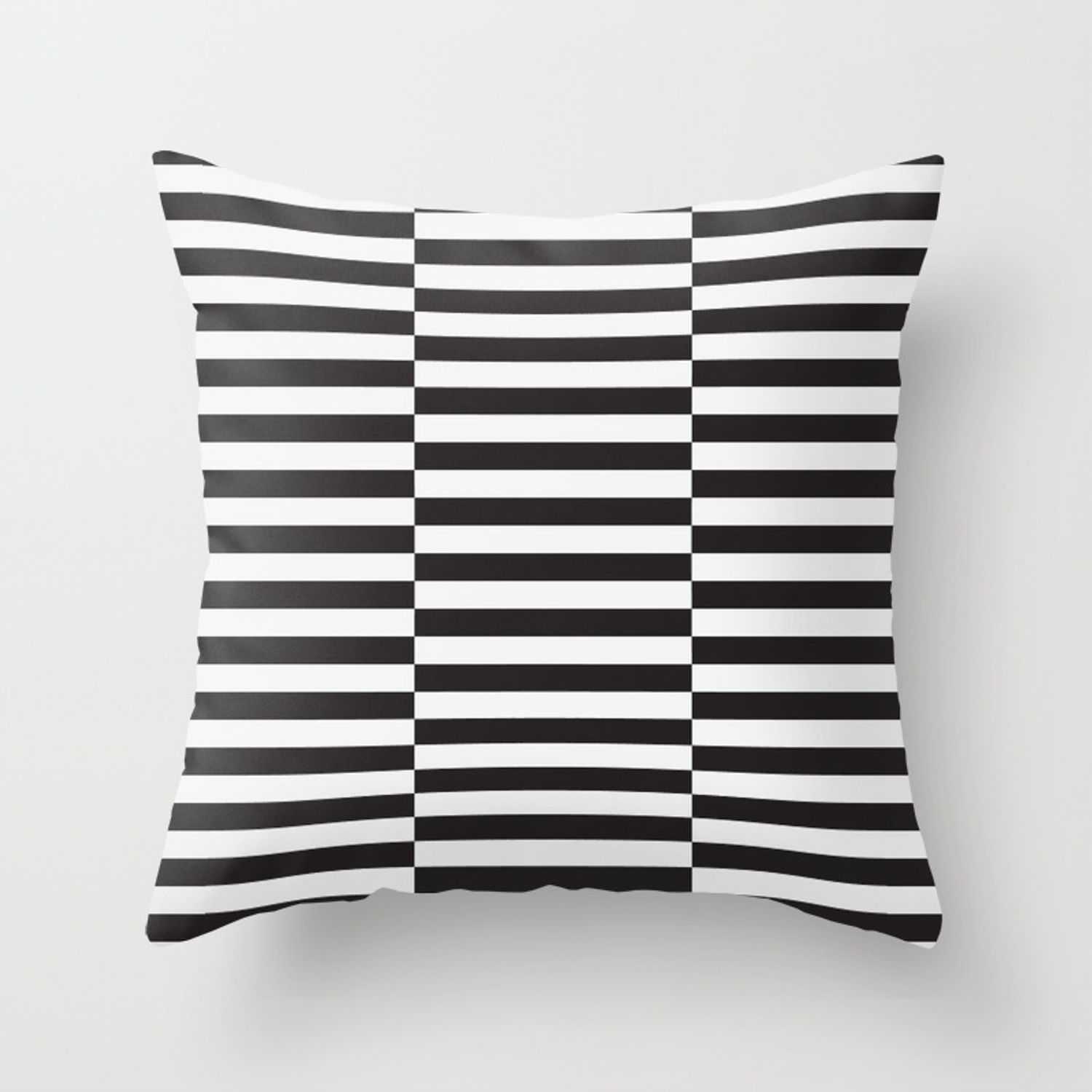 Ikea Stockholm Rug Pattern Black Stripe Black Throw Pillow