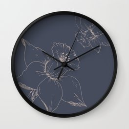 Daffodil flowers Wall Clock