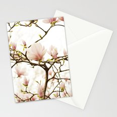 Queen For A Day Pink Magnolia Flower Stationery Cards