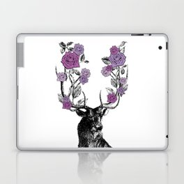 The Stag and Roses   Lilac   Purple Laptop & iPad Skin