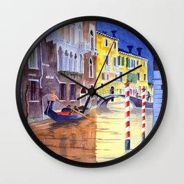 Reflections Of Venice Italy Wall Clock