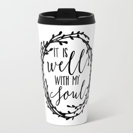 It is well with my soul wreath Travel Mug