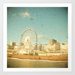 Brighton Wheel Art Print