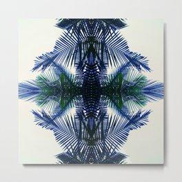 Pattern Fern Metal Print