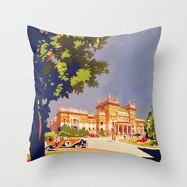 Salsomaggiore Italy 1920s Throw Pillow