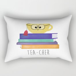 Teacher (Tea Cup And Books) Rectangular Pillow