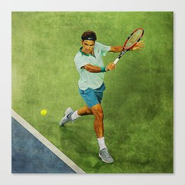 Roger Federer Tennis Backhand Canvas Print