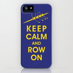 Keep Calm and Row On (For the Love of Rowing) Slim Case iPhone (5, 5s)