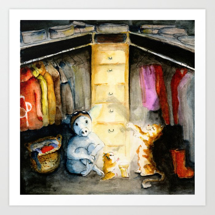 Closet therapy with Super Pig  Art Print