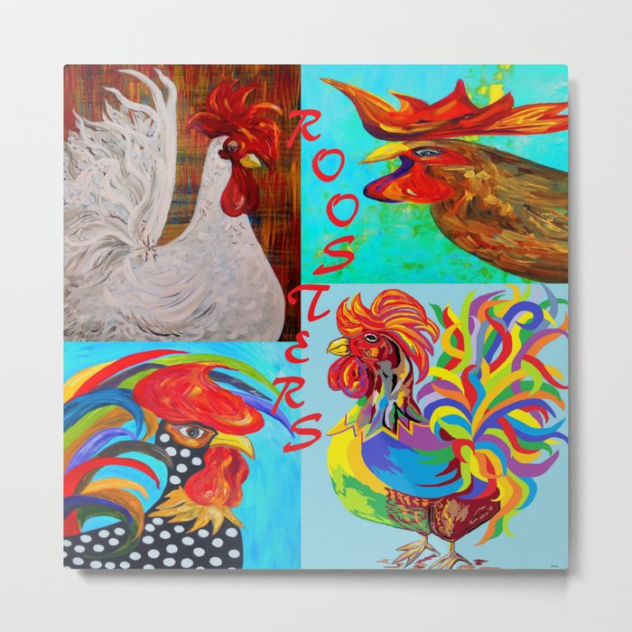 Rooster Menagerie Metal Print