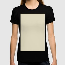 Light Creamy Desert Ivory - Solid Color Pastel Trend T-shirt