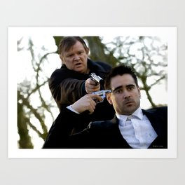 Brendan Gleeson as Ken and  Colin Farrell as Ray in the film In Bruges (Martin McDonagh- 2008) Art Print