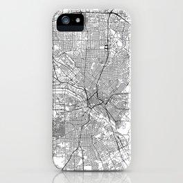 Dallas White Map iPhone Case