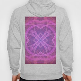 Flower shaped fractal mandala, digital artwork for creative graphic design. Colorful glowing abstrac Hoody