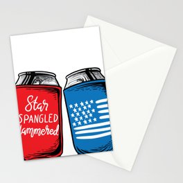 Time to get star spangled hammered 4th of july Stationery Cards
