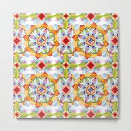 Flower Garden Kaleidoscope Metal Print