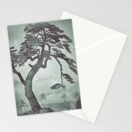 Old Man Standing - Looking through the Window Pane Stationery Cards