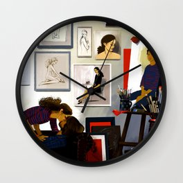 The artist & his muse Wall Clock
