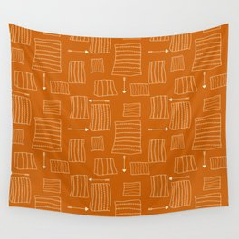Tribal Arrows and Squares, Primitive Pattern Wall Tapestry