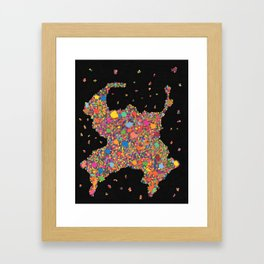 Sumo Cluster (Original) Framed Art Print