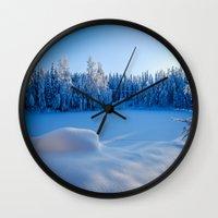 swedish Wall Clocks featuring Swedish Winter by Mark W