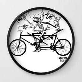 Caveirinhas - Bicicleta Girassol Wall Clock
