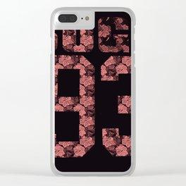 suga93 Clear iPhone Case