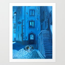 Will the night ever fall down? Art Print