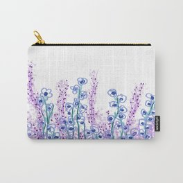 Astract Water Flowers Carry-All Pouch