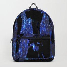 World Map : Blue Galaxy Stars Backpack