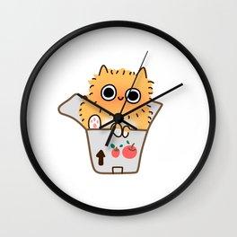 Box Cat Wall Clock