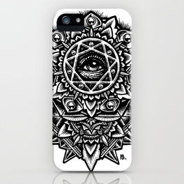 Eye of God Flower iPhone Case