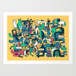 Silly King Art Print
