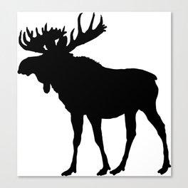 Moose: Black Canvas Print