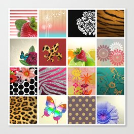 Color Me Girly Collage Canvas Print