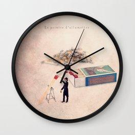The matchstick painter Wall Clock