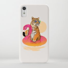 Chillin (Flamingo Tiger) iPhone Case